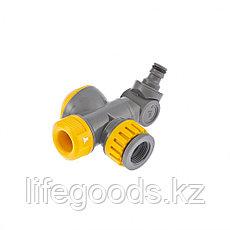 Соединитель для крана с внутренней резьбой 1/2-3/4 с переключателем и шарниром Palisad Luxe 66253, фото 3