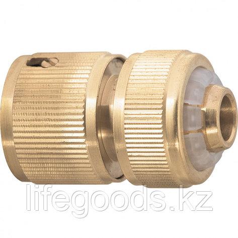 Соединитель латунный, быстросъемный для шланга 1/2 Palisad 66264, фото 2
