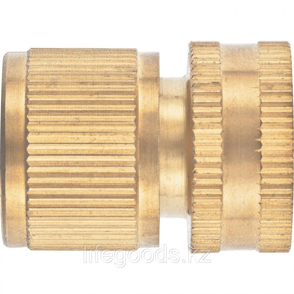 Соединитель латунный, быстросъемный, внутренняя резьба 1/2, аквастоп Palisad 66269