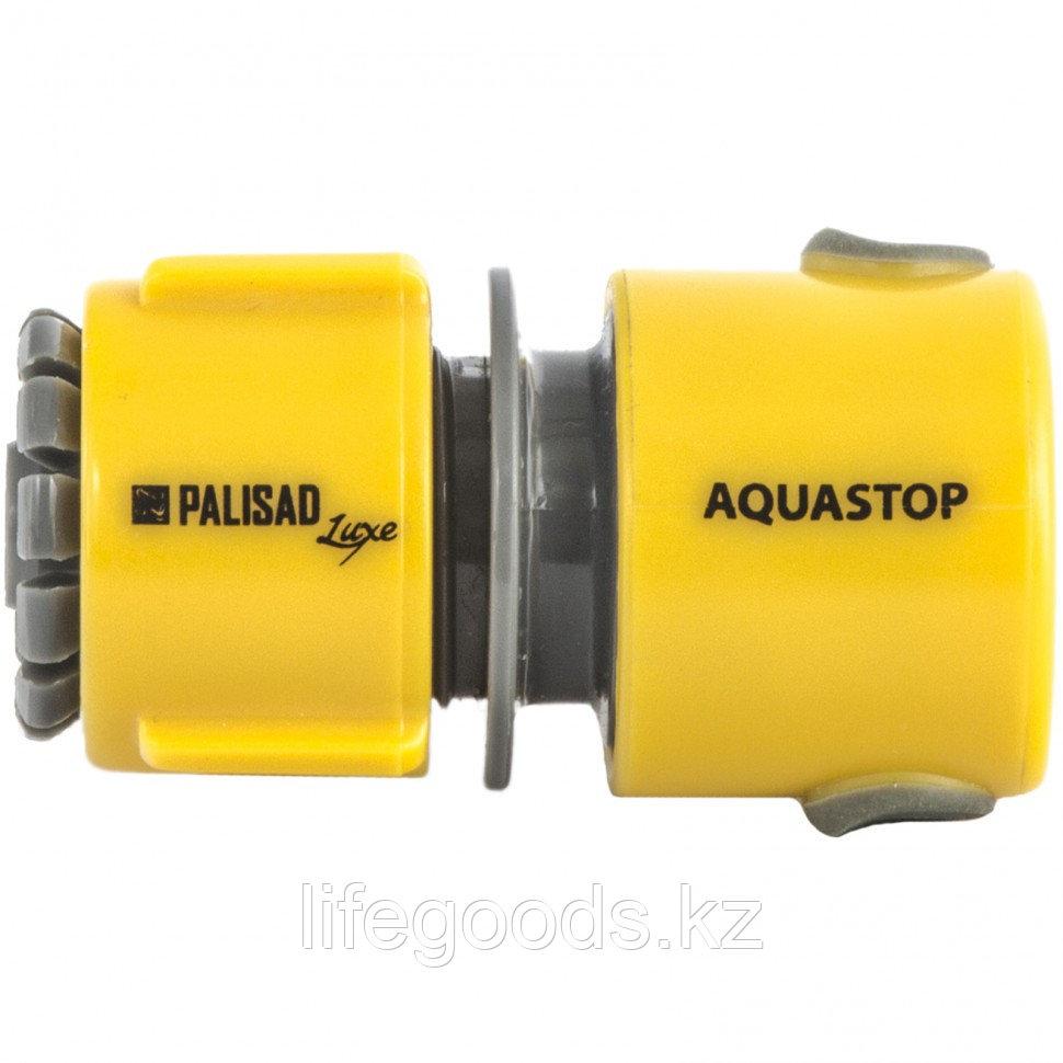 Соединитель пластмассовый, быстросъемный для шланга 1/2, аквастоп, Luxe Palisad 66472