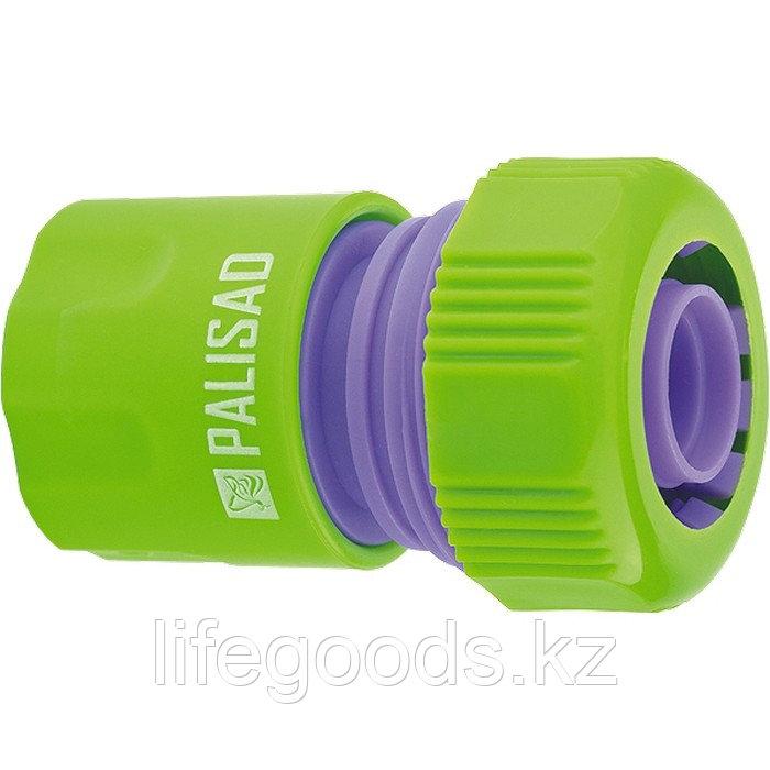 Соединитель пластмассовый, быстросъемный для шланга 3/4 Palisad