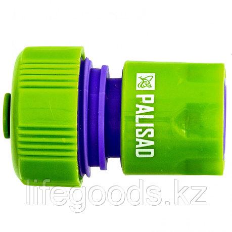 Соединитель пластмассовый, быстросъемный для шланга 3/4, аквастоп Palisad, фото 2
