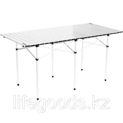 Стол складной алюминиевый, 1400 x 700 x 700 мм, Camping Palisad 69580, фото 2