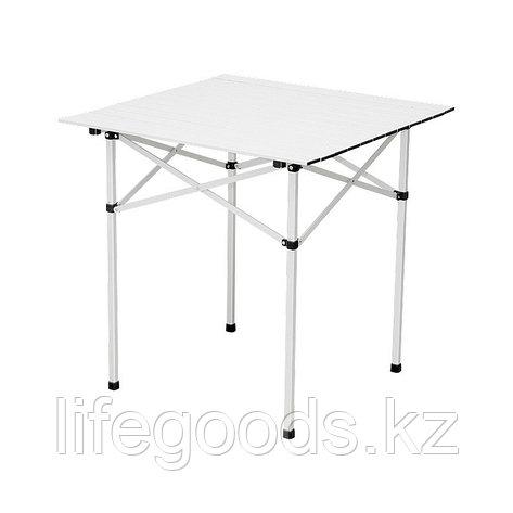 Стол складной алюминиевый, 700 x 700 x 700 мм, Camping Palisad, фото 2