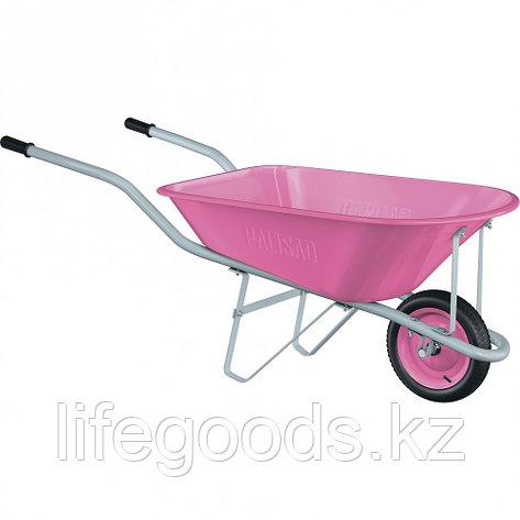 Тачка садовая Pink Line, одноколесная, объем 78 л Palisad, фото 2