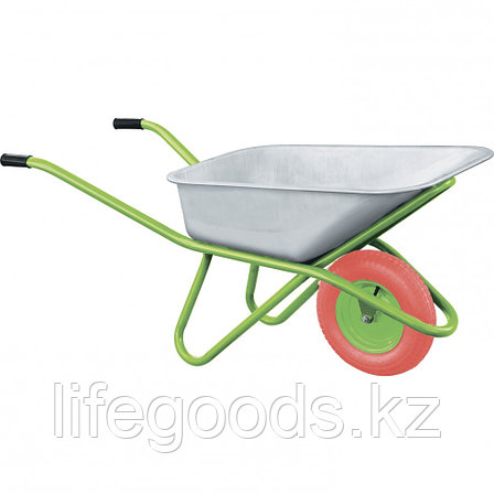 Тачка садово-строительная с PU колесом, грузоподъемность 180 кг, объем 90 л Сибртех, фото 2
