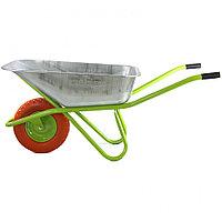 Тачка садово-строительная с полиуретановым колесом, грузоподъемность 180 кг, объем 90 л Сибртех