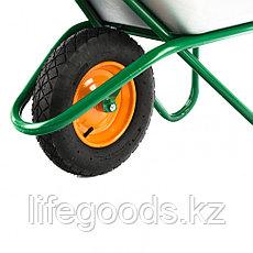 Тачка садово-строительная, усиленная, грузоподъемность 200 кг, объем 90 л Palisad, фото 2