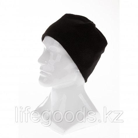 Шапка из флиса для взрослых, размер 58-59, черная Россия Сибртех, фото 2