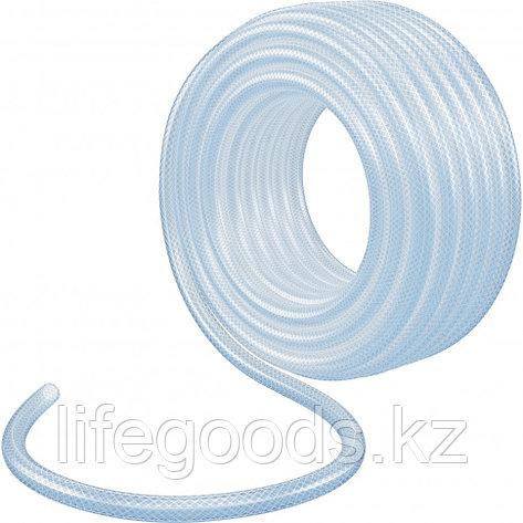 Шланг поливочный, прозрачный, армированный, трехслойный, 1/2, 50 м Palisad, фото 2
