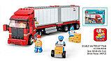Конструктор Sluban Контейнеровоз Фура аналог лего Lego City 345 деталей, фото 2