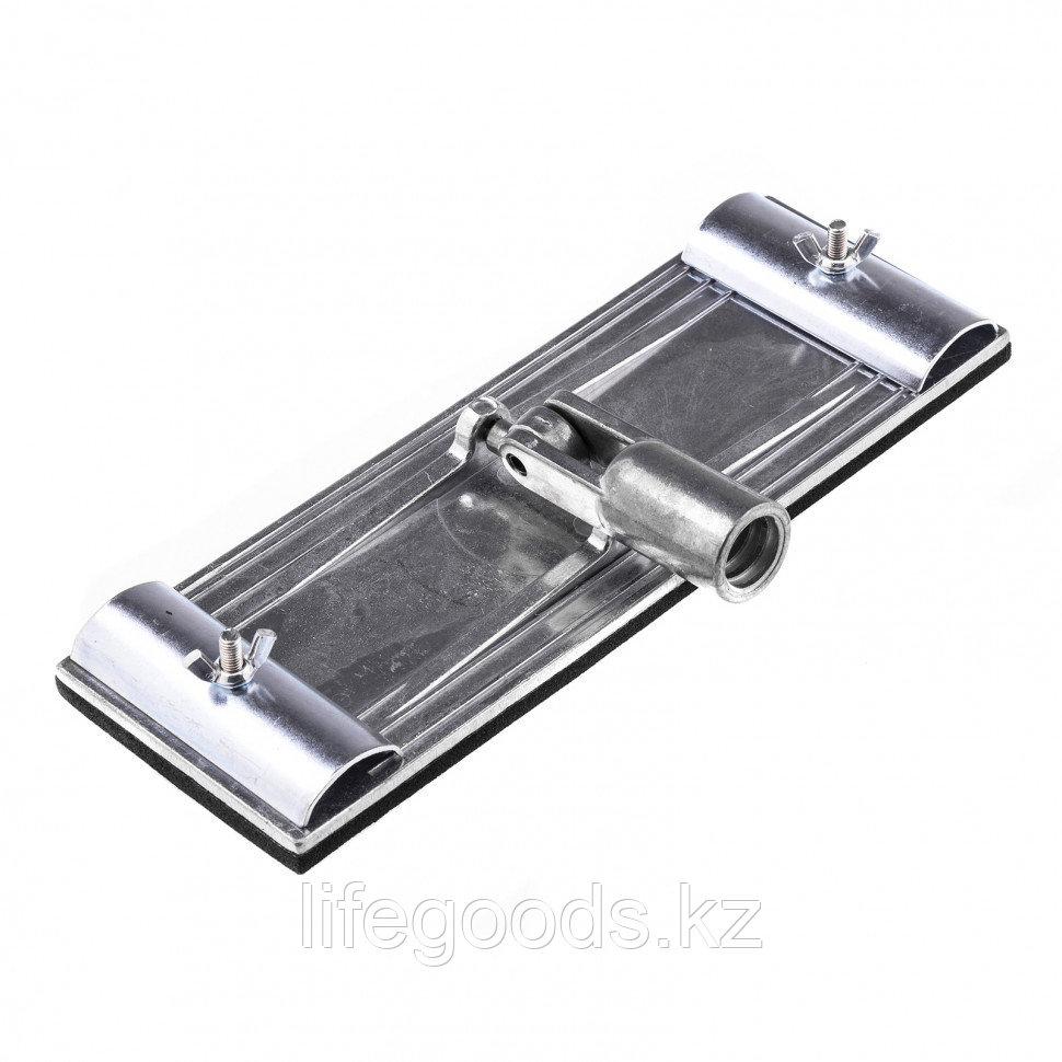 Брусок для шлифования 230 х 80 мм с шарнирным переходником, металлический Matrix 75838