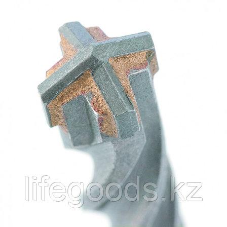 Бур по бетону, 10 x 210 мм, SDS Plus c крестовой пластиной Matrix 70650, фото 2