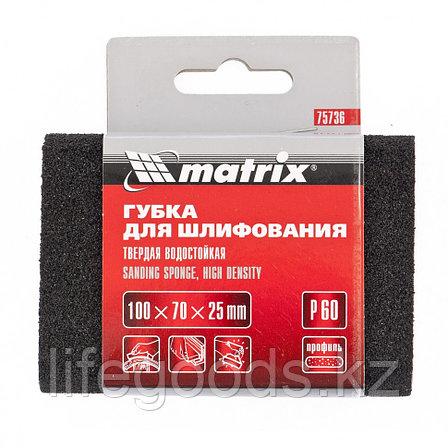 Губка для шлифования, 100 х 70 х 25 мм, овал, твердая, P 80 Matrix 75737, фото 2