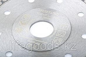 Диск алмазный, 115 х 22,2 мм, тонкий, сплошной (Jaguar), мокрая резка Gross 73052, фото 2