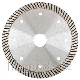 Диск алмазный, 115 х 22,2 мм, турбо с лазерной перфорацией, сухая резка Gross 73028, фото 2
