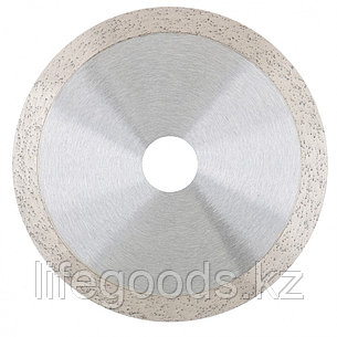Диск алмазный, 125 х 22,2 мм, сплошной, мокрая резка Gross 730387, фото 2
