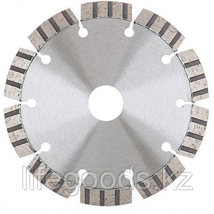 Диск алмазный, 180 х 22,2 мм, лазерная приварка турбо-сегментов, сухая резка Gross 730067, фото 2