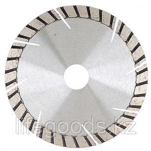 Диск алмазный, 180 х 22,2 мм, турбо-сегментный, сухая резка Gross 73023, фото 2