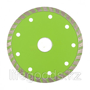 Диск алмазный, отрезной Turbo, 115 х 22,2 мм, сухая резка Сибртех, фото 2