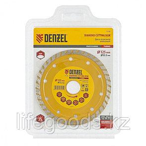 Диск алмазный, отрезной Turbo, 125 х 22,2 мм, сухая резка Denzel 73108, фото 2