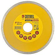 Диск алмазный, отрезной сплошной, 125 х 22,2 мм, мокрая резка Denzel 73120
