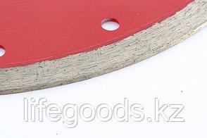 Диск алмазный, отрезной сплошной, 230 х 22,2 мм, тонкий, мокрая резка Matrix Professional 730837, фото 2