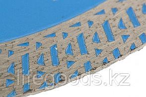 Диск алмазный, сплошной 125 х 22,2 мм, тонкий, сухая/мокрая резка Барс, фото 2