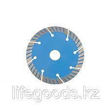 Диск алмазный, Турбо-сегментный 125 х 22,2 мм, сухая резка Барс 73086, фото 3