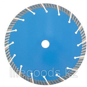 Диск алмазный, Турбо-сегментный 230 х 22,2 мм, сухая резка Барс 73089, фото 2