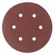 """Круг абразивный на ворсовой подложке под """"липучку"""", перфорированный, P 240, 150 мм, 5 шт Matrix 73846"""