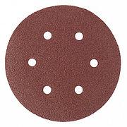 """Круг абразивный на ворсовой подложке под """"липучку"""", перфорированный, P 320, 150 мм, 5 шт Matrix 73848"""