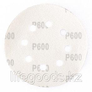 """Круг абразивный на ворсовой подложке под """"липучку"""", перфорированный, P 600, 125 мм, 5 шт Matrix 73817, фото 2"""
