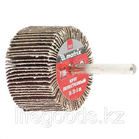 Круг лепестковый для дрели, 50 х 30 х 6 мм, P 60 Matrix 74173, фото 2