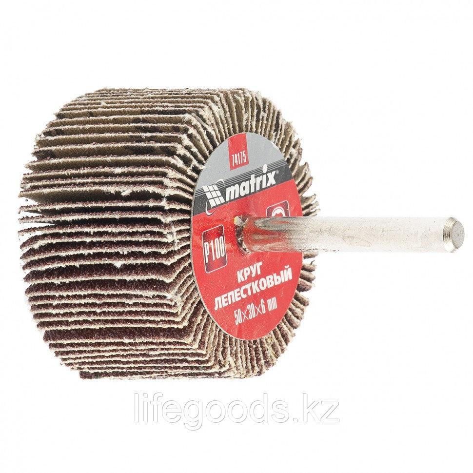 Круг лепестковый для дрели, 50 х 30 х 6 мм, P 80 Matrix 74174