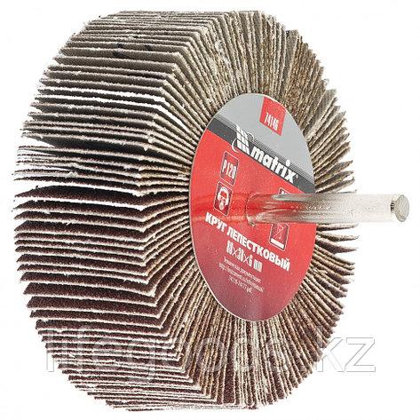 Круг лепестковый для дрели, 80 х 30 х 6 мм, P 40 Matrix 74140, фото 2