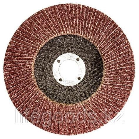 Круг лепестковый торцевой КЛТ-2, зернистость Р 80, 125 х 22,2 мм 740857, фото 2