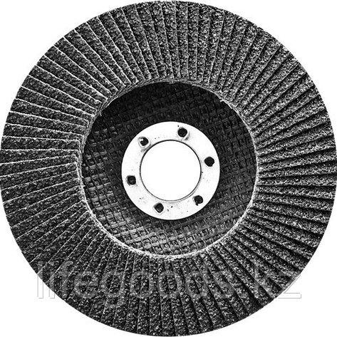 Круг лепестковый торцевой, конический, Р 24, 125 х 22,2 мм Сибртех 74082, фото 2