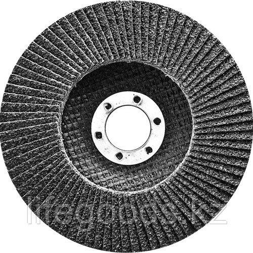 Круг лепестковый торцевой, конический, Р 80,125 х 22,2 мм Сибртех 74085