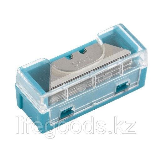 Лезвия МИНИ, 9 мм, трапециевидные, пластиковый пенал, 15 шт Gross 79373