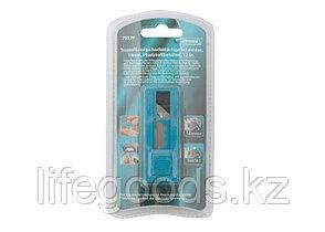 Лезвия, 19 мм, трапециевидные крючкообразные, пластиковый пенал, 12 шт Gross 79379, фото 2