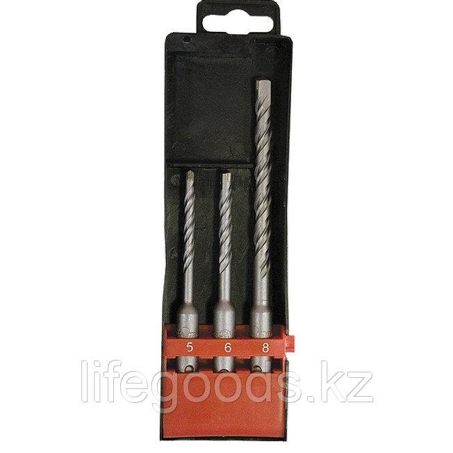 Набор буров по бетону, 5 х 110,6 х 110,8 х 160 мм, 3 шт, в пластиковой коробке, SDS Plus Matrix 71093