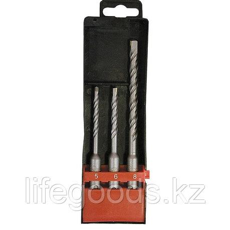 Набор буров по бетону, 5 х 110,6 х 110,8 х 160 мм, 3 шт, в пластиковой коробке, SDS Plus Matrix 71093, фото 2