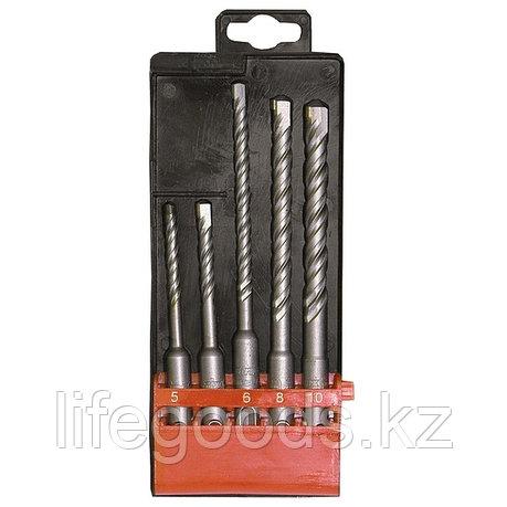 Набор буров по бетону, 5-6 х 110,6-8-10 х 160 мм, 5 шт, в пластиковой коробке, SDS Plus Matrix 71095, фото 2