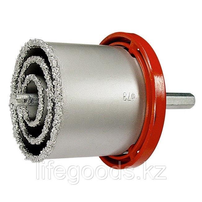 Набор коронок по керамической плитке, 33-53-67-73 мм, шестигранный хвостовик Matrix 72840