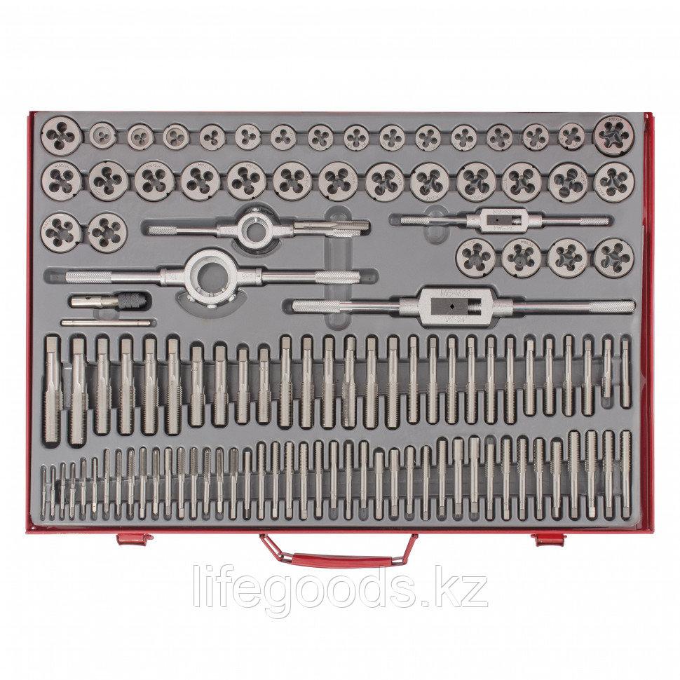 Набор метчиков и плашек М2-М18, 110 шт, металлический кейс Matrix 773110