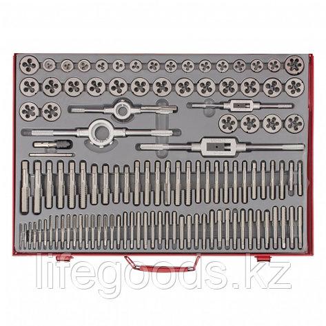 Набор метчиков и плашек М2-М18, 110 шт, металлический кейс Matrix 773110, фото 2