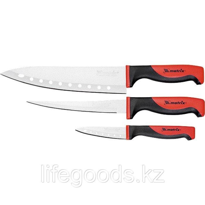 """Набор ножей поварских """"SILVER TEFLON"""", тефл. покр, 200 мм, 160 мм, 80 мм, 3 шт Matrix Kitchen 79148"""