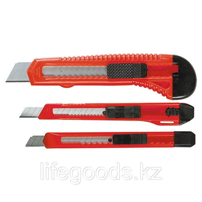 Набор ножей, выдвижные лезвия, 9-9-18 мм, 3 шт, Matrix