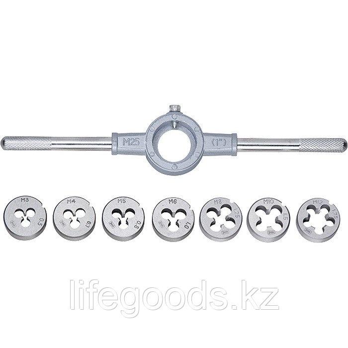 Набор плашек М3-М12, 8 предметов Сибртех 77309